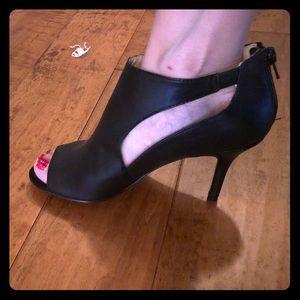 Nine West Open Toe Black Booties